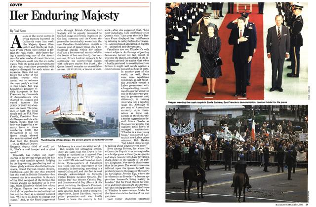 Article Preview: Her Enduring Majesty, March 1983 | Maclean's