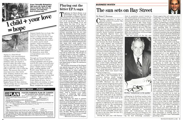 Article Preview: The sun sets on Bay Street, March 1983 | Maclean's