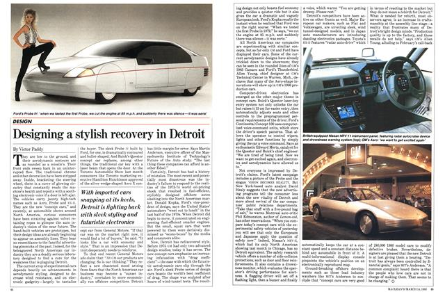 Article Preview: Designing a stylish recovery in Detroit, March 1983 | Maclean's