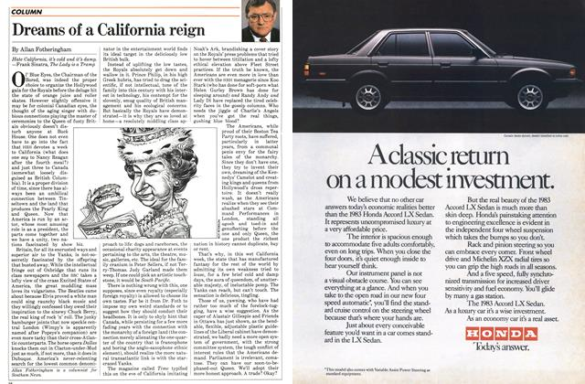 Article Preview: Dreams of a California reign, March 1983   Maclean's