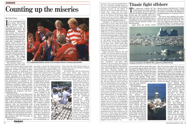 Article Preview: Titanic fight offshore, March 1983 | Maclean's