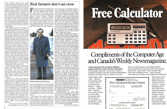 Article Preview: Real farmers don't eat crow, March 1983 | Maclean's