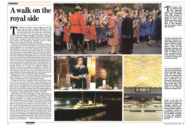 Article Preview: A walk on the royal side, March 1983 | Maclean's