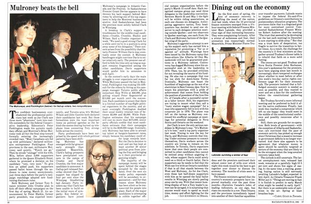 Article Preview: Dining out on the economy, March 1983 | Maclean's