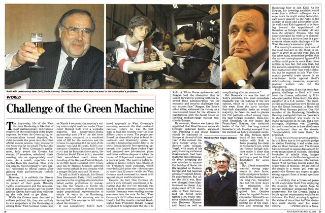 Article Preview: Challenge of the Green Machine, March 1983 | Maclean's