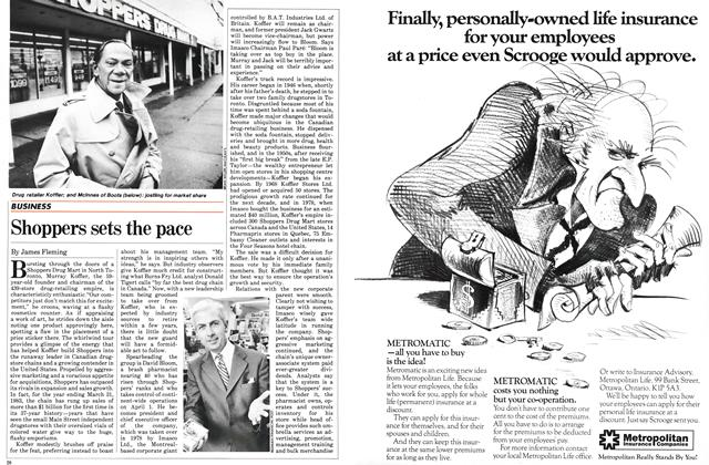 Article Preview: Shoppers sets the pace, March 1983 | Maclean's