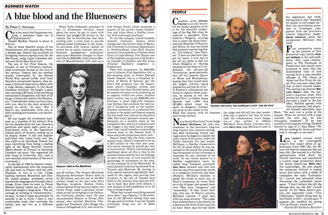 Article Preview: A blue blood and the Bluenosers, March 1983 | Maclean's