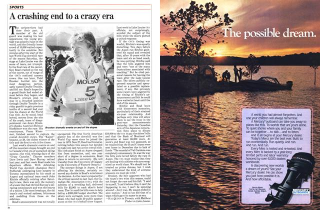 Article Preview: A crashing end to a crazy era, March 1983 | Maclean's