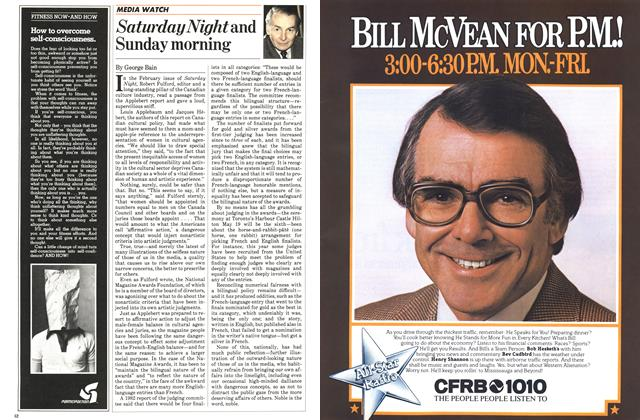 Article Preview: Saturday Night and Sunday morning, March 1983 | Maclean's