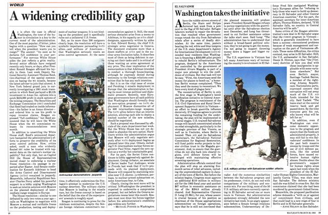 Article Preview: A widening credibility gap, March 1983 | Maclean's