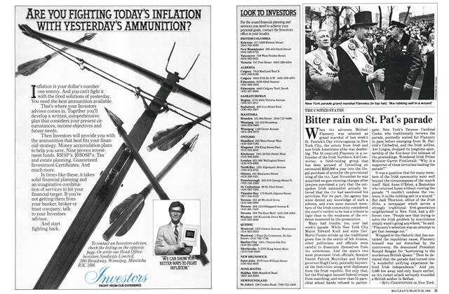 Article Preview: Bitter rain on St. Pat's parade, March 1983 | Maclean's