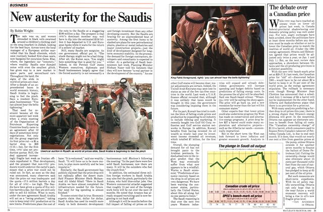 Article Preview: New austerity for the Saudis, March 1983 | Maclean's
