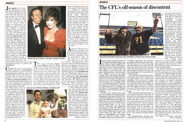 Article Preview: The CFL's off-season of discontent, March 1983 | Maclean's