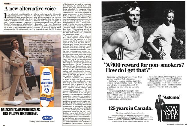 Article Preview: A new alternative voice, March 1983 | Maclean's