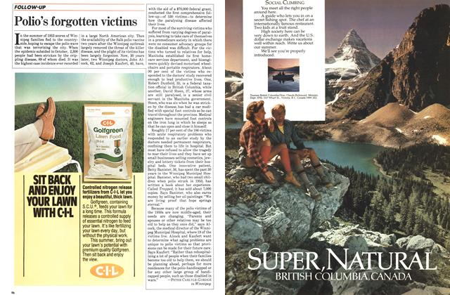 Article Preview: Polio's forgotten victims, March 1983   Maclean's