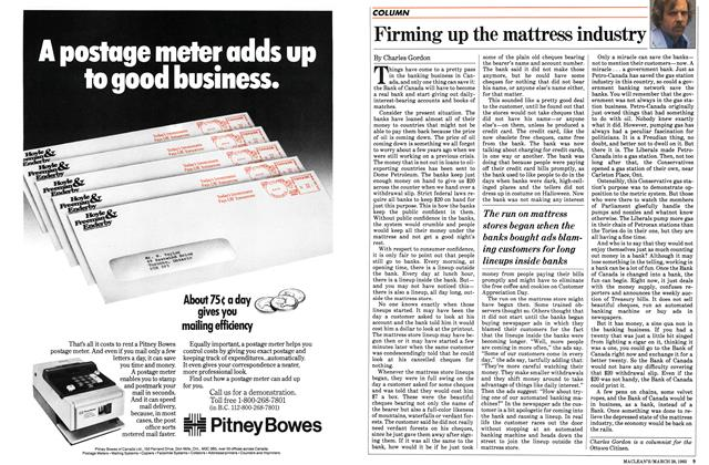 Article Preview: Firming up the mattress industry, March 1983 | Maclean's