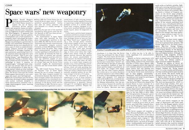 Article Preview: Space wars' new weaponry, April 1983 | Maclean's