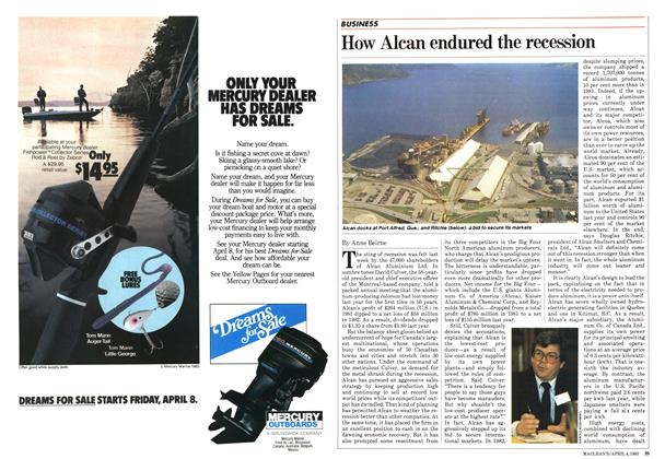 Article Preview: How Alcan endured the recession, April 1983 | Maclean's