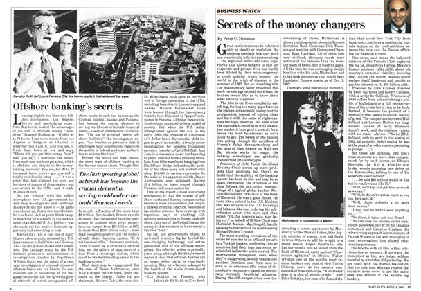Article Preview: Secrets of the money changers, April 1983 | Maclean's