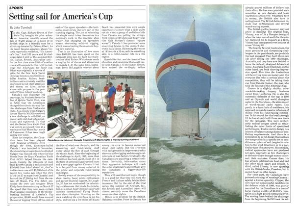 Article Preview: Setting sail for America's Cup, April 1983 | Maclean's