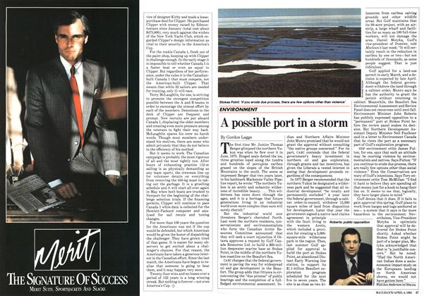 Article Preview: A possible port in a storm, April 1983 | Maclean's