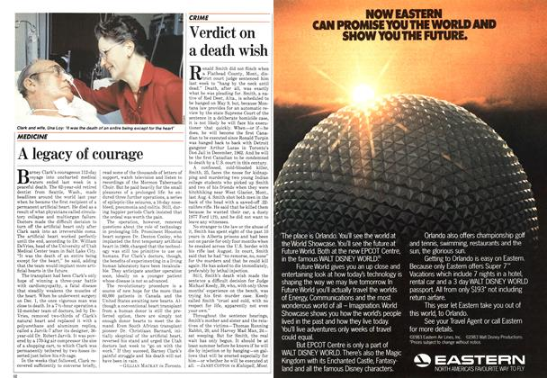 Article Preview: Verdict on a death wish, April 1983 | Maclean's