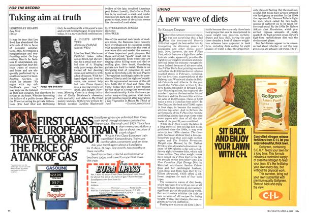 Article Preview: A new wave of diets, April 1983 | Maclean's