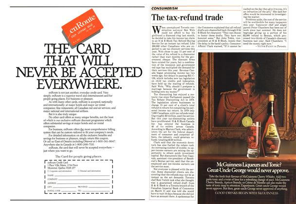 Article Preview: The tax-refund trade, April 1983 | Maclean's