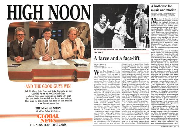 Article Preview: A farce and a face-lift, April 1983 | Maclean's