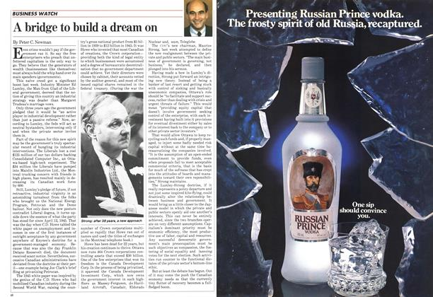 Article Preview: A bridge to build a dream on, April 1983   Maclean's