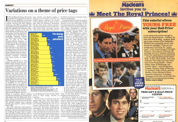 Article Preview: Variations on a theme of price tags, April 1983 | Maclean's