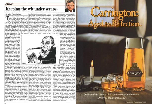 Article Preview: Keeping the wit under wraps, April 1983 | Maclean's