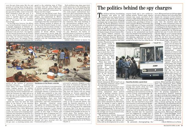 Article Preview: The politics behind the spy charges, April 1983 | Maclean's