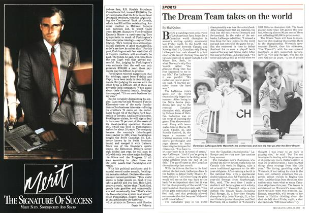 Article Preview: The Dream Team takes on the world, April 1983 | Maclean's