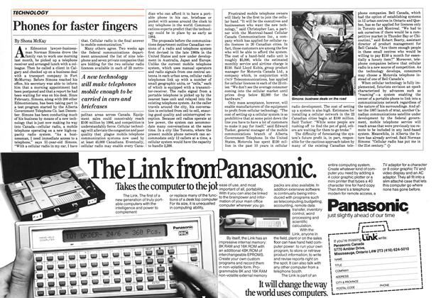Article Preview: Phones for faster fingers, April 1983 | Maclean's