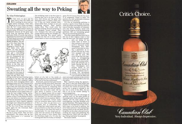 Article Preview: Sweating all the way to Peking, April 1983 | Maclean's