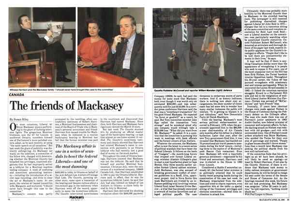 Article Preview: The friends of Mackasey, April 1983 | Maclean's
