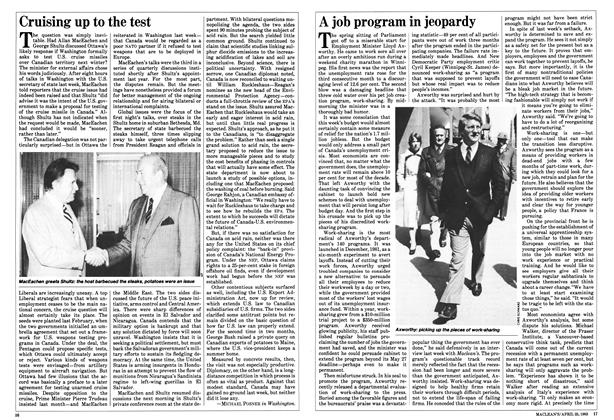 Article Preview: A job program in jeopardy, April 1983   Maclean's