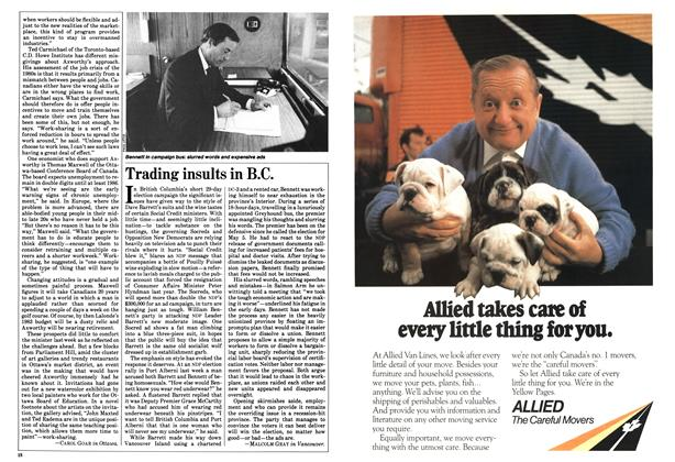 Article Preview: Trading insults in B.C., April 1983 | Maclean's