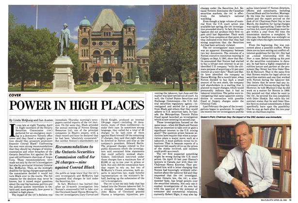 Article Preview: POWER IN HIGH PLACES, April 1983 | Maclean's