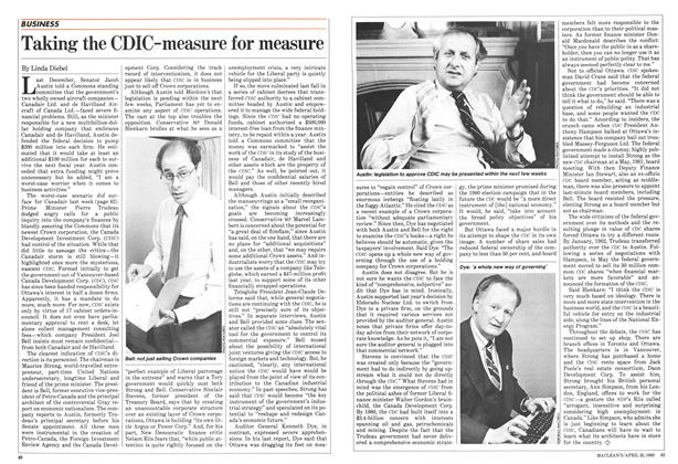 Article Preview: Taking the CDIC-measure for measure, April 1983 | Maclean's