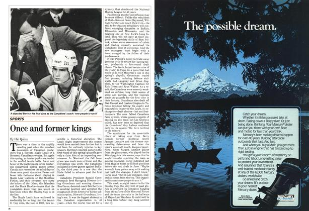 Article Preview: Once and former kings, April 1983 | Maclean's