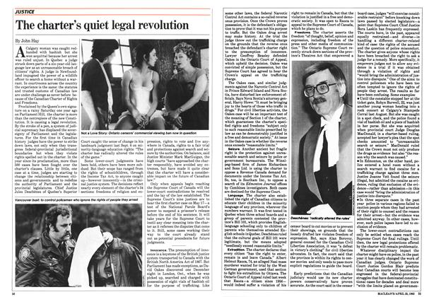 Article Preview: The charter's quiet legal revolution, April 1983   Maclean's