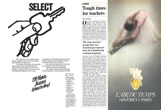 Article Preview: Tough times for teachers, April 1983 | Maclean's