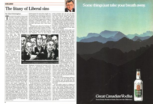 Article Preview: The litany of Liberal sins, April 1983 | Maclean's
