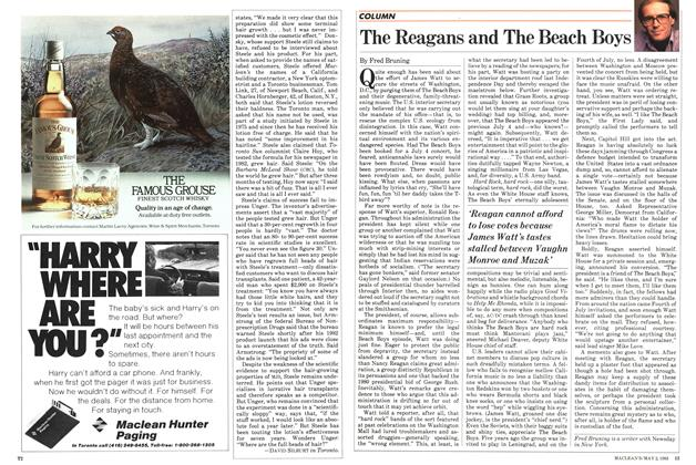 Article Preview: The Reagans and The Beach Boys, May 1983 | Maclean's