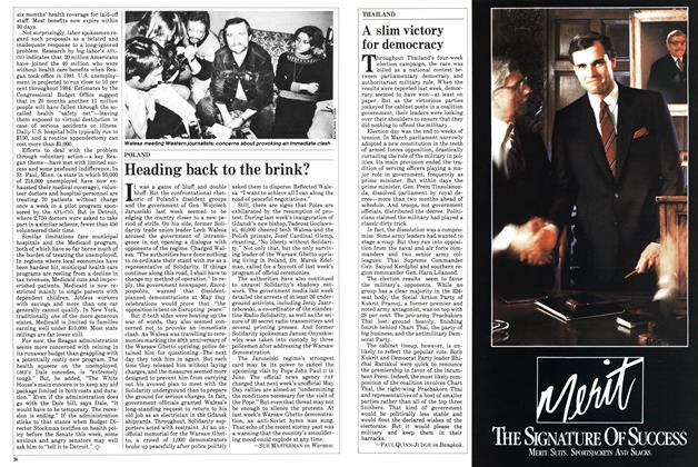 Article Preview: Heading back to the brink?, May 1983 | Maclean's