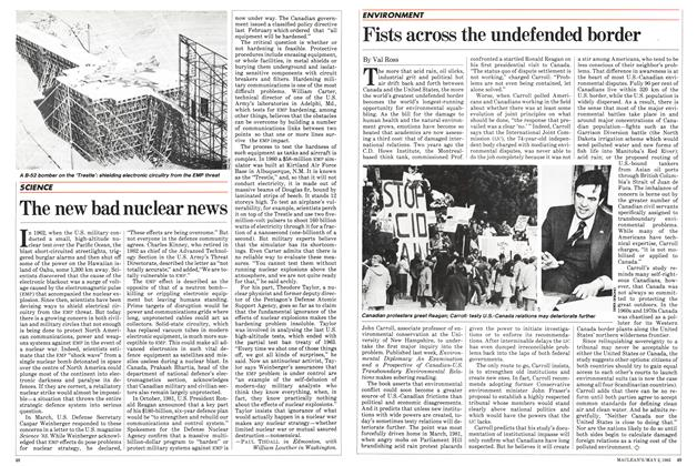 Article Preview: Fists across the undefended border, May 1983 | Maclean's