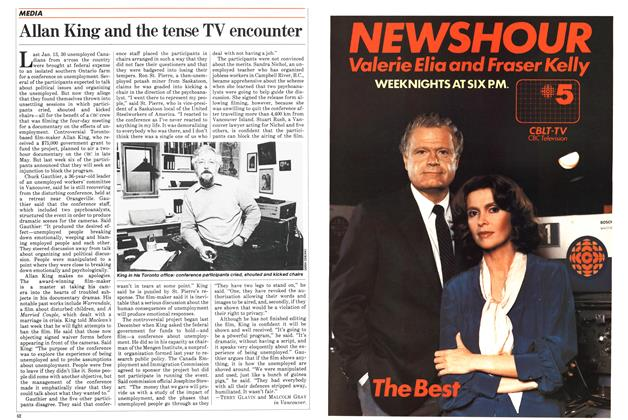 Article Preview: Allan King and the tense TV encounter, May 1983 | Maclean's