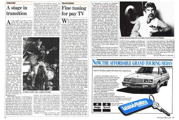 Article Preview: Fine tuning for pay TV, May 1983 | Maclean's